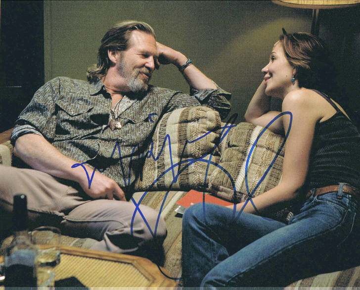 Jeff Briges and Maggie Gyllenhaal Signed Photo