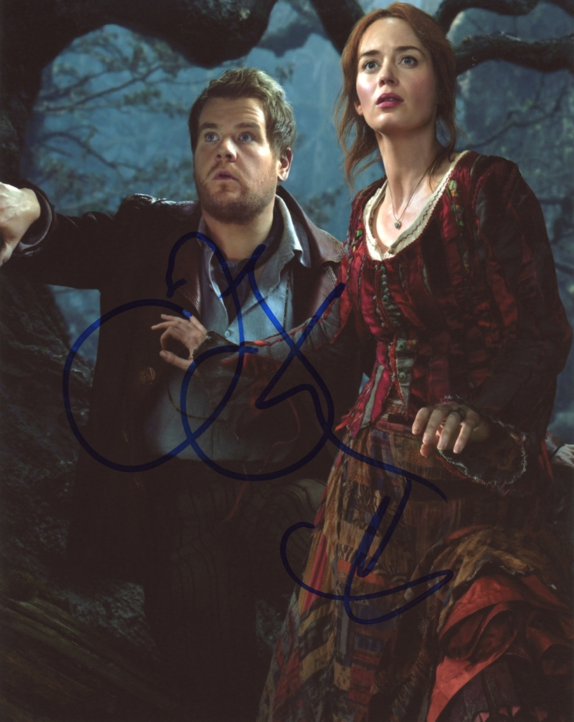Emily Blunt & James Corden Signed Photo