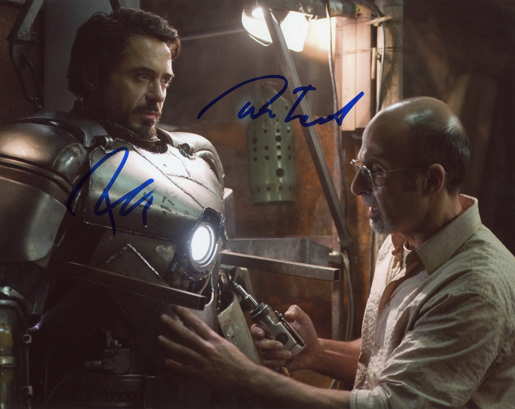 Robert Downey, Jr. & Shaun Toub Signed Photo