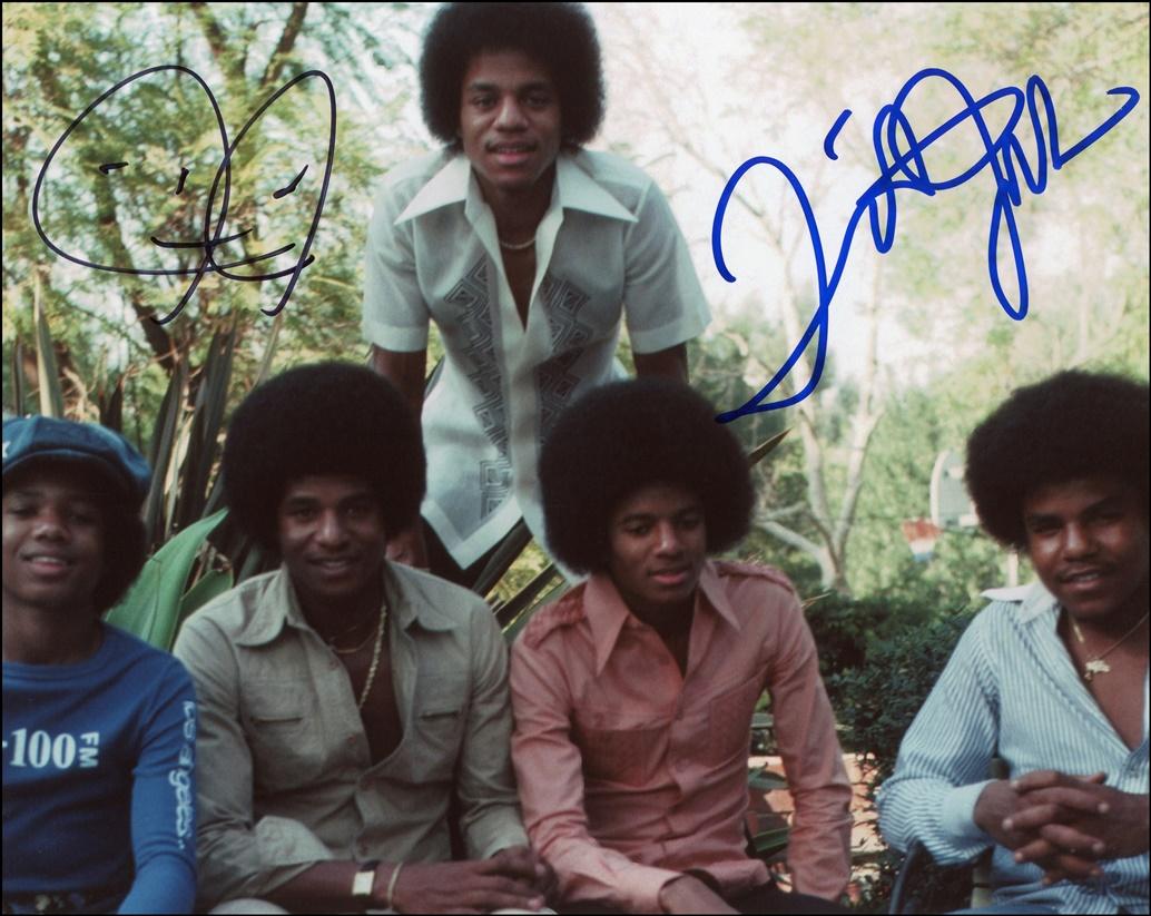Jermaine & Tito Jackson Signed Photo