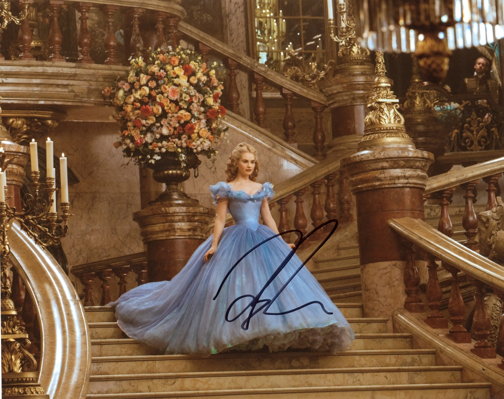 Lily James Signed Photo