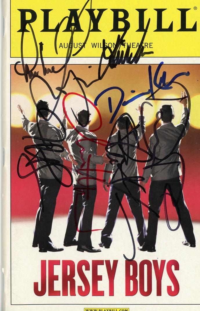 Jersey Boys Signed Playbill