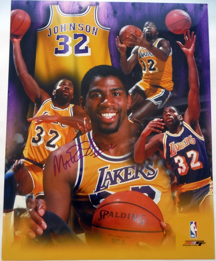 Magic Johnson Signed Photo