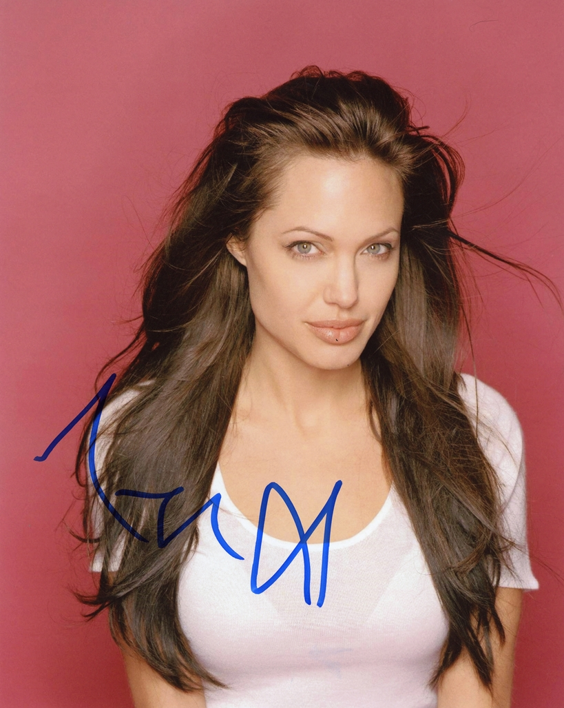 Angelina Jolie Signed Photo