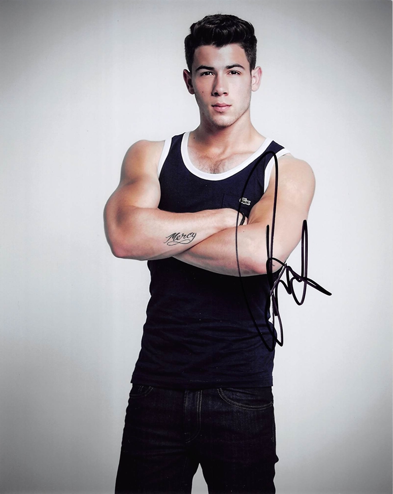 Nick Jonas Signed Photo