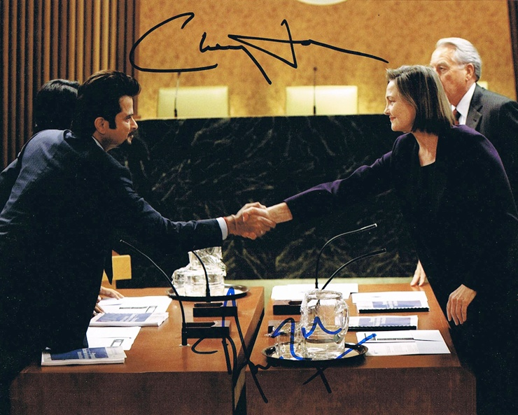 Anil Kapoor & Cherry Jones Signed Photo