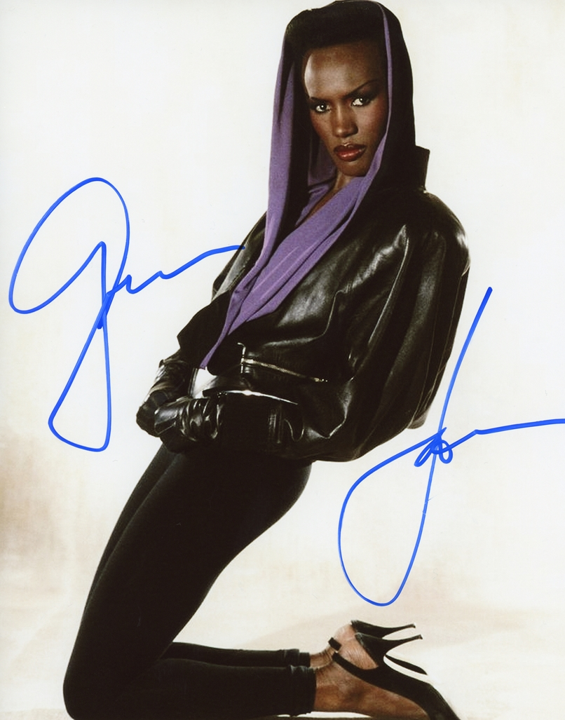 Grace Jones Signed Photo