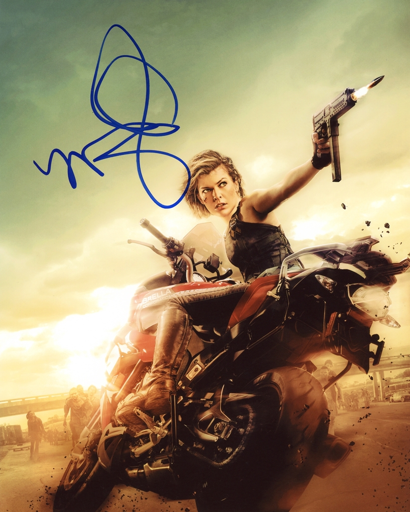 Milla Jovovich Signed Photo