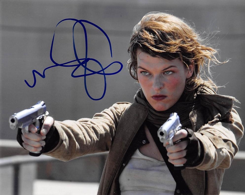 Milla Jovovich Signed Photo