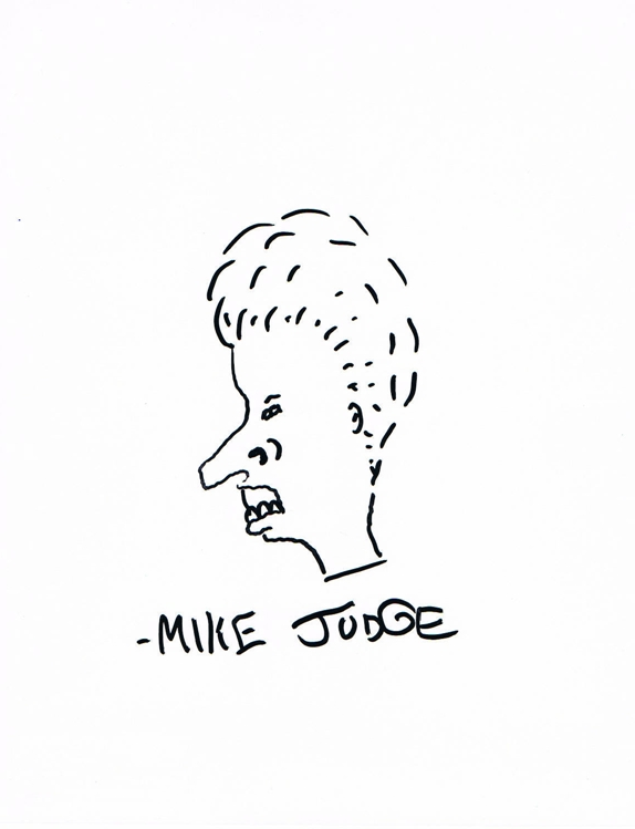 Mike Judge Signed Original Sketch