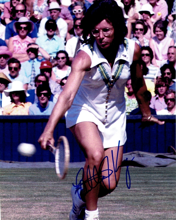 Billie Jean King Signed Photo