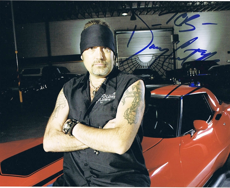 danny the count koker counting cars autograph signed 8x10 photo this