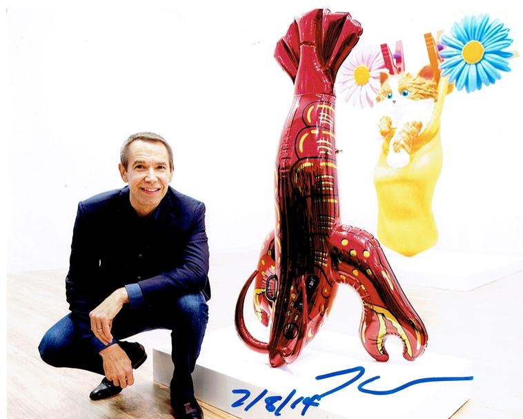 Jeff Koons Signed Photo