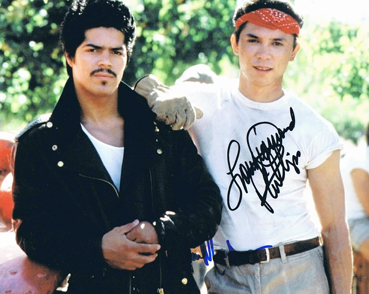 Lou Diamond Phillips & Esai Morales Signed Photo