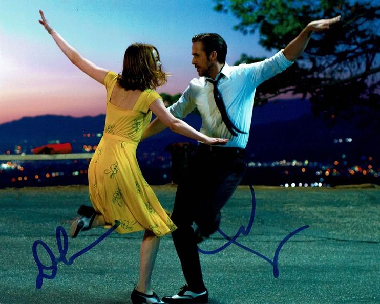 Damien Chazelle & Emma Stone Signed Photo