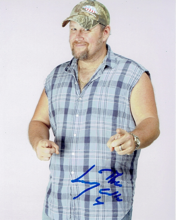 Larry the Cable Guy Signed Photo