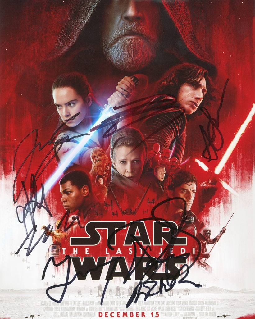 The Last Jedi Signed Photo