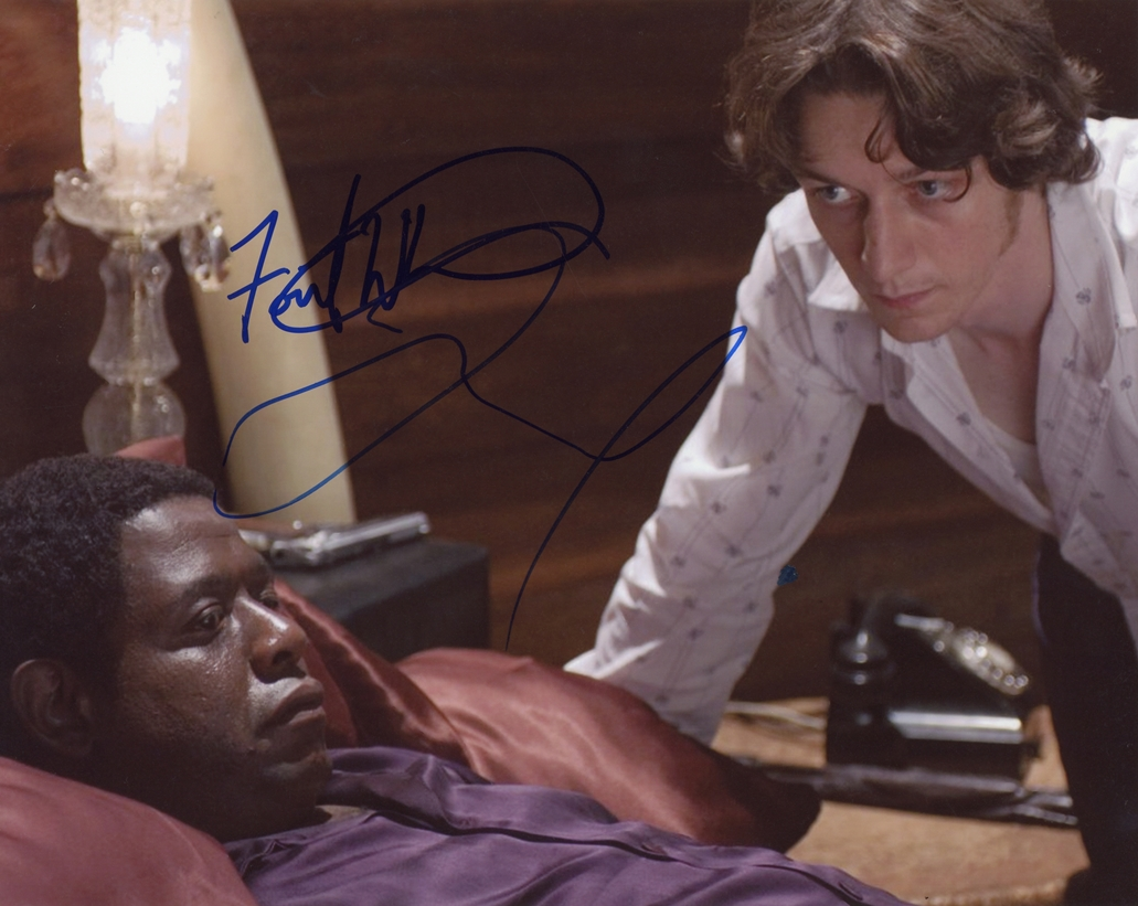 Forest Whitaker & James McAvoy Signed Photo