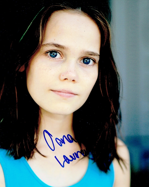 Oona Laurence Signed Photo