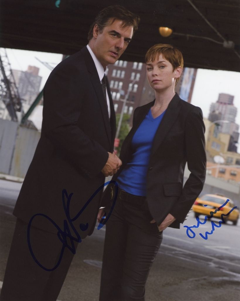 Chris Noth & Julianne Nicholson Signed Photo