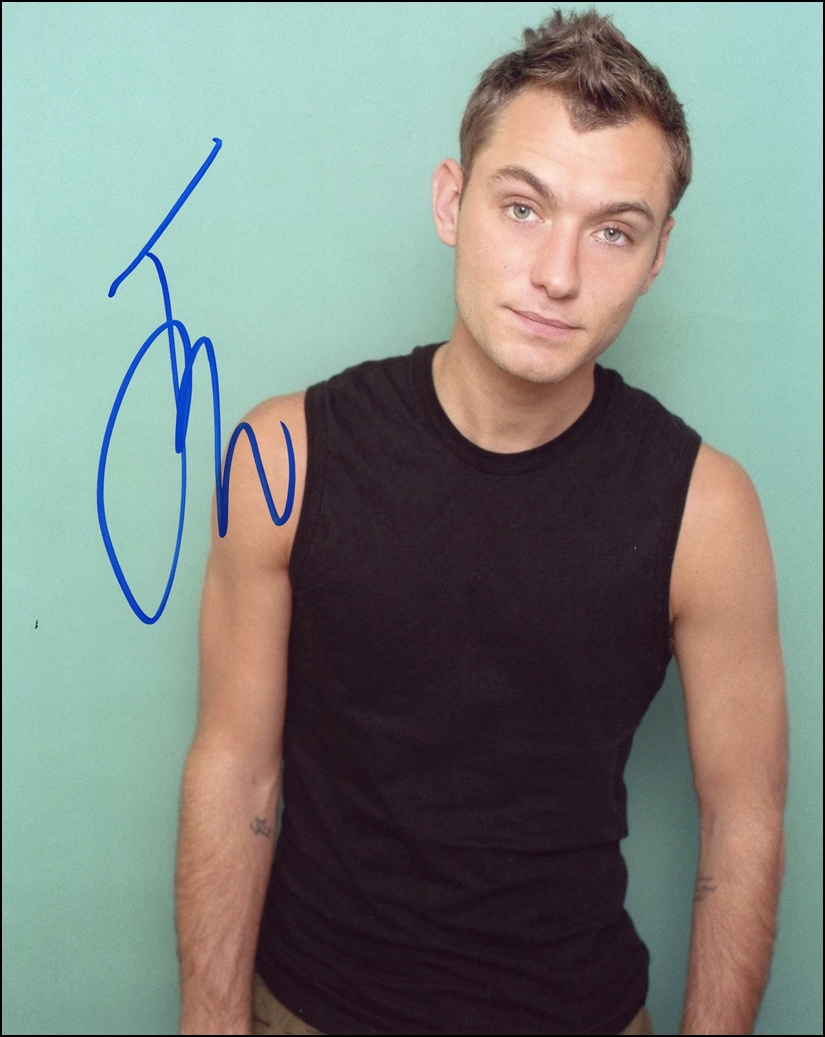 Jude Law Signed Photo