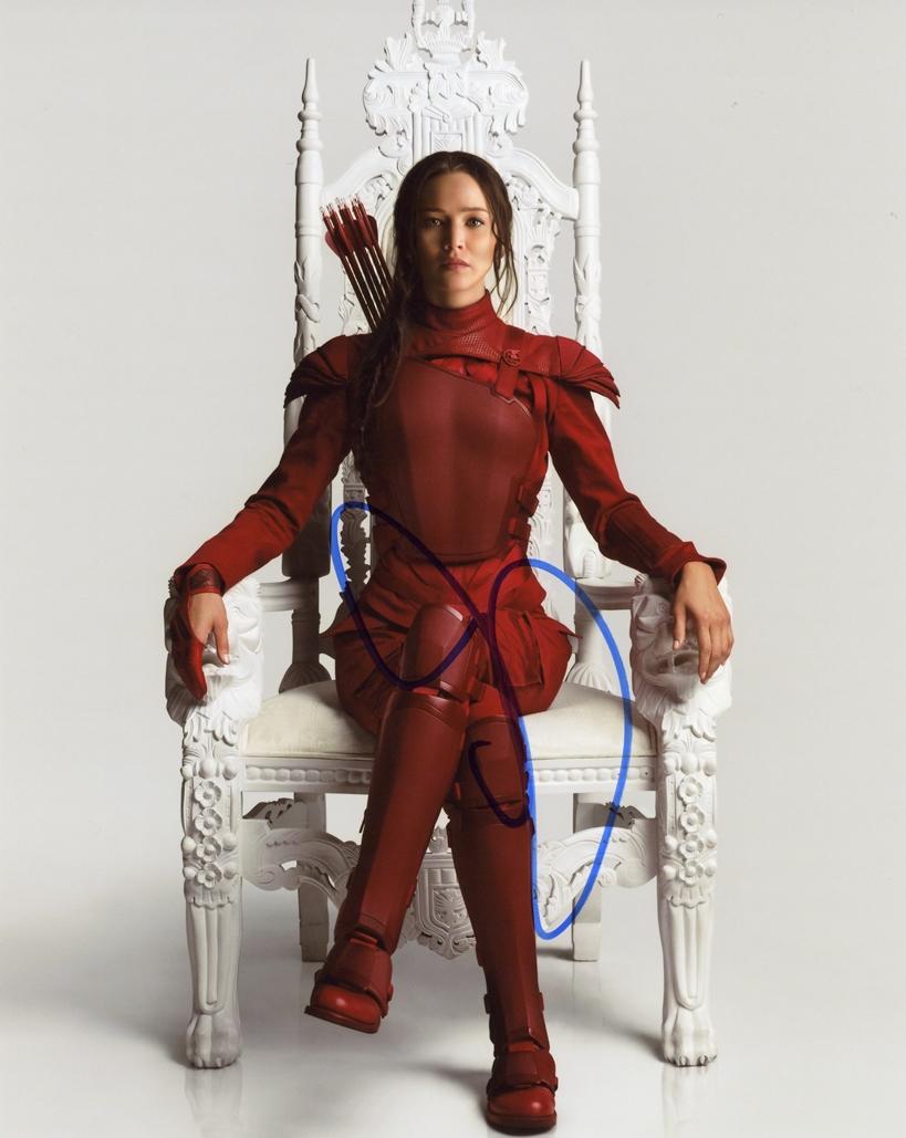 Jennifer Lawrence Signed Photo