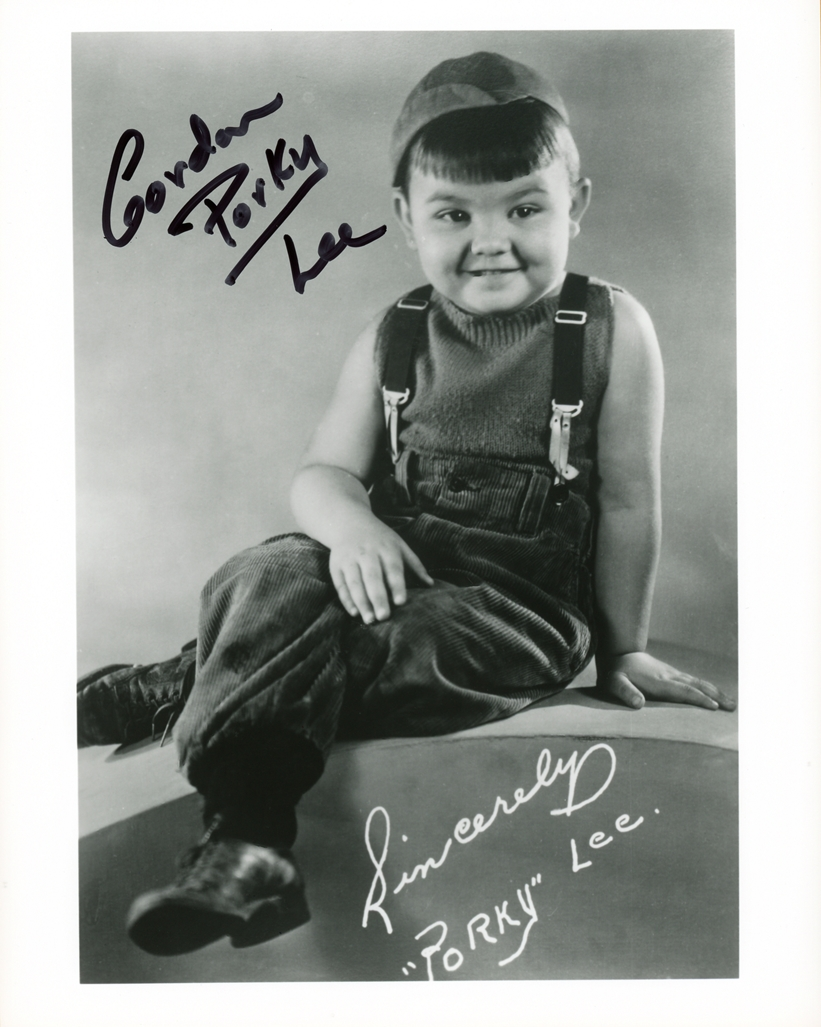 Gordon Porky Lee Signed Photo