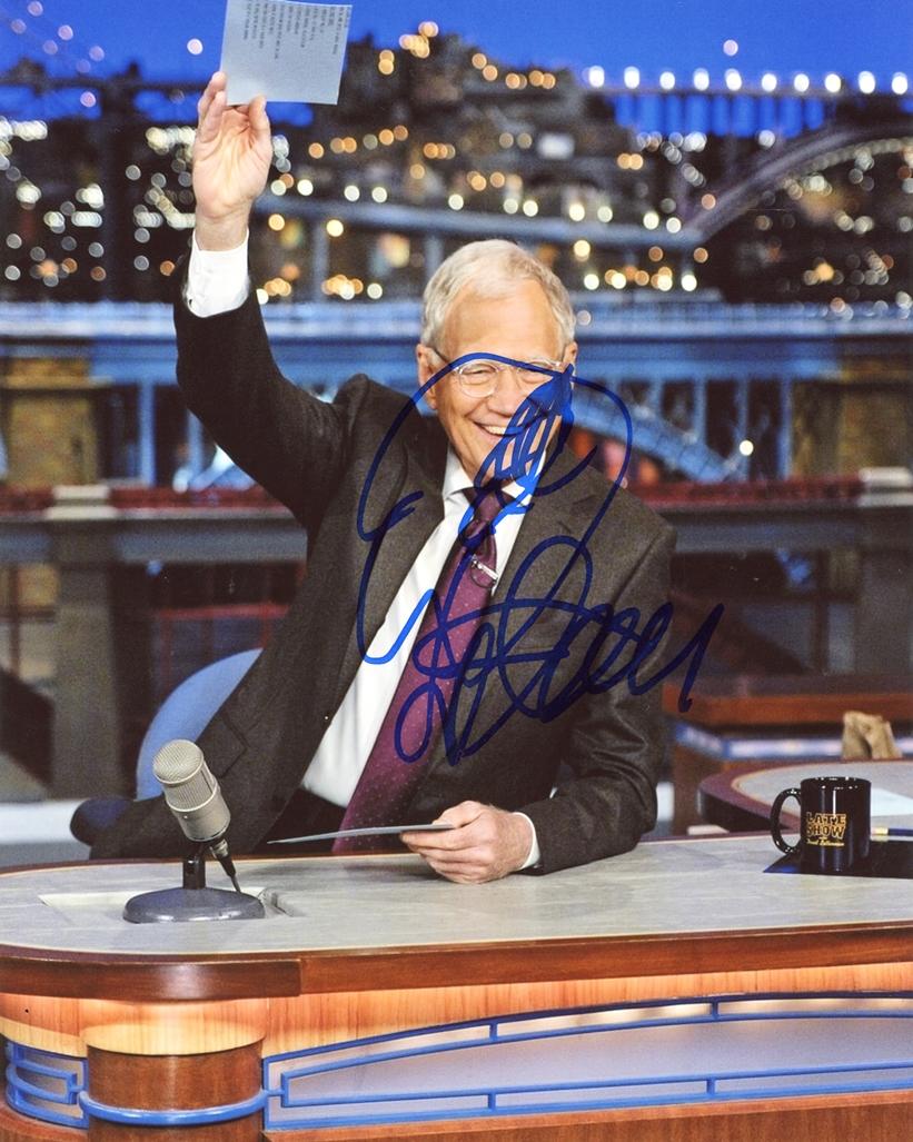 David Letterman Signed Photo