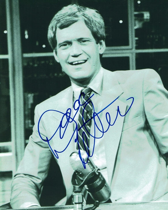 David Letterman Signed Photo