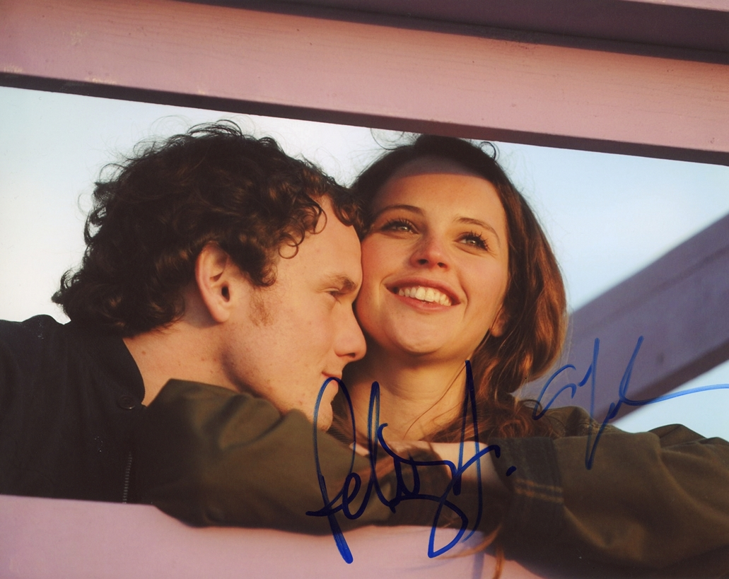 Felicity Jones & Anton Yelchin Signed Photo