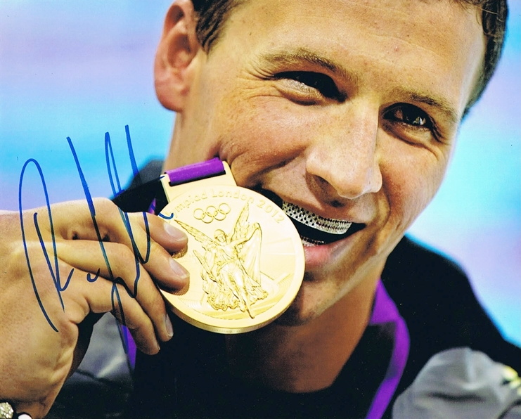 Ryan Lochte Signed Photo