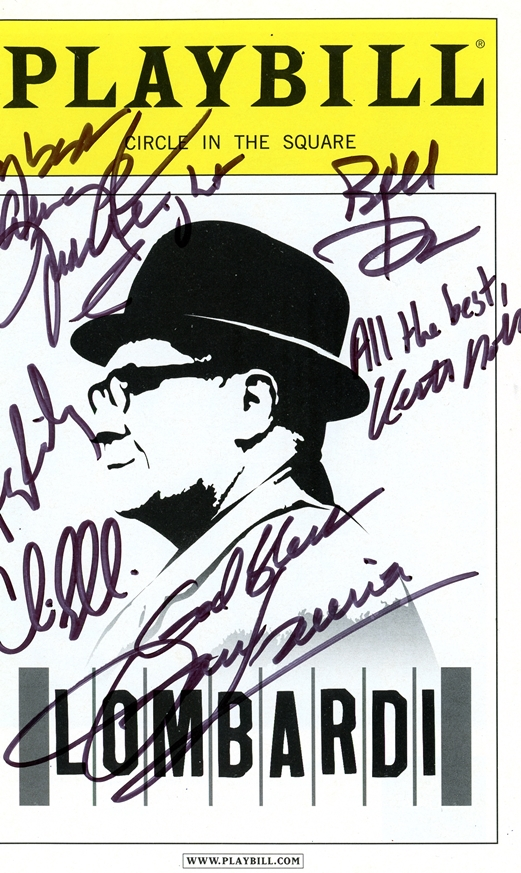 Lombardi Signed Playbill