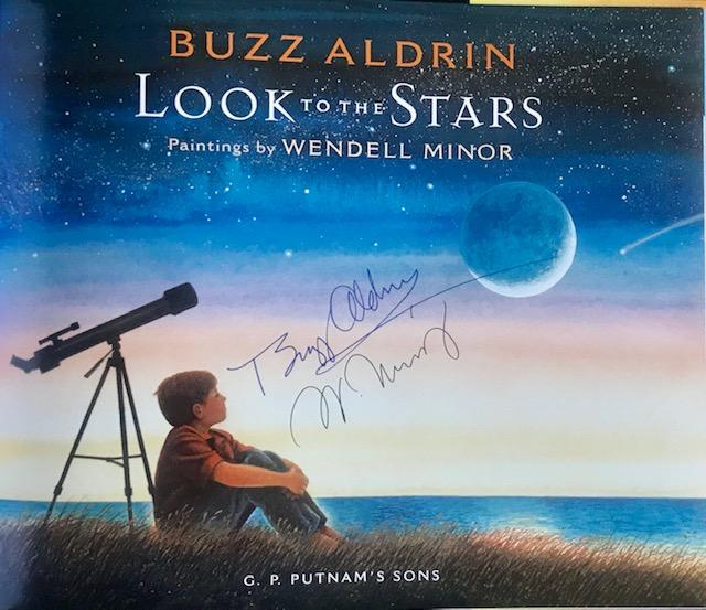 Buzz Aldrin & Wendell Minor Signed Book