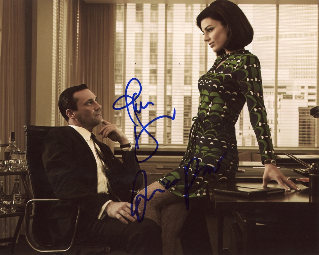 Jon Hamm & Jessica Pare Signed Photo