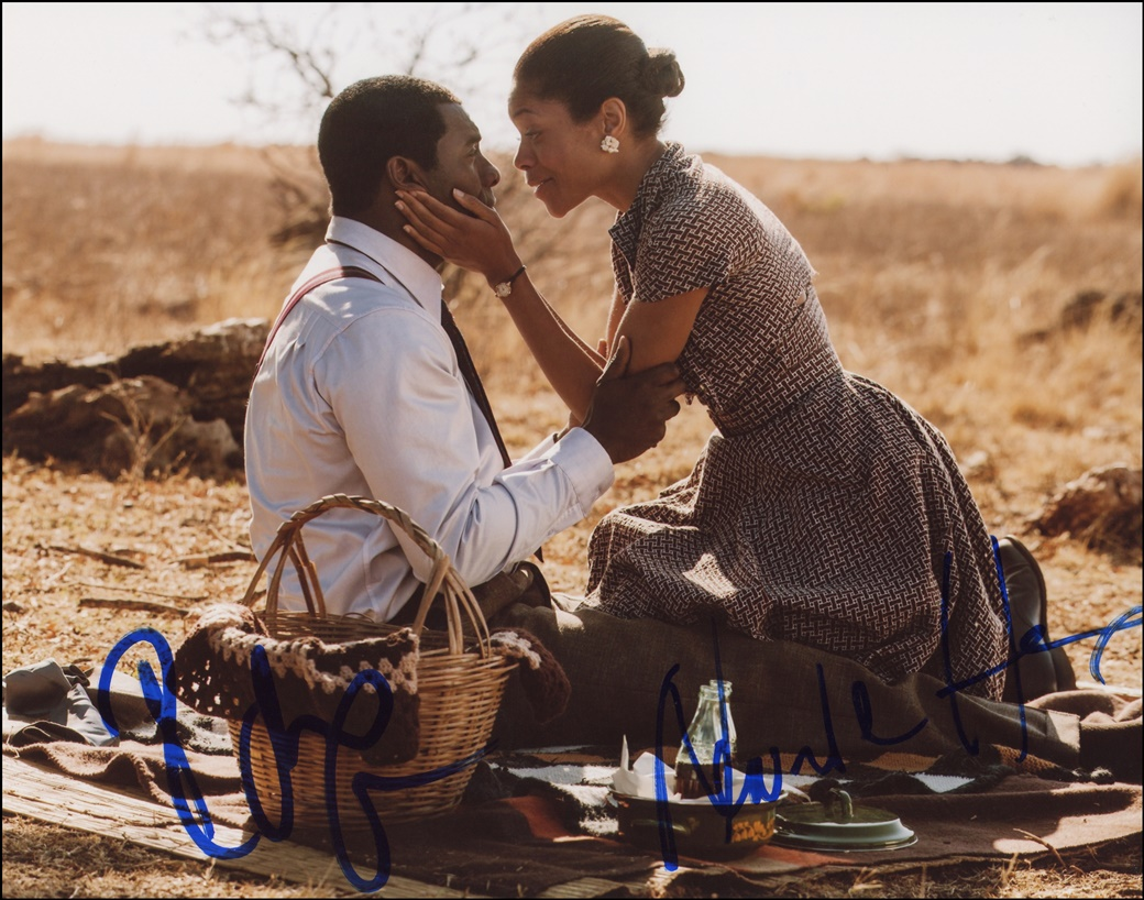 Idris Elba & Naomie Harris Signed Photo
