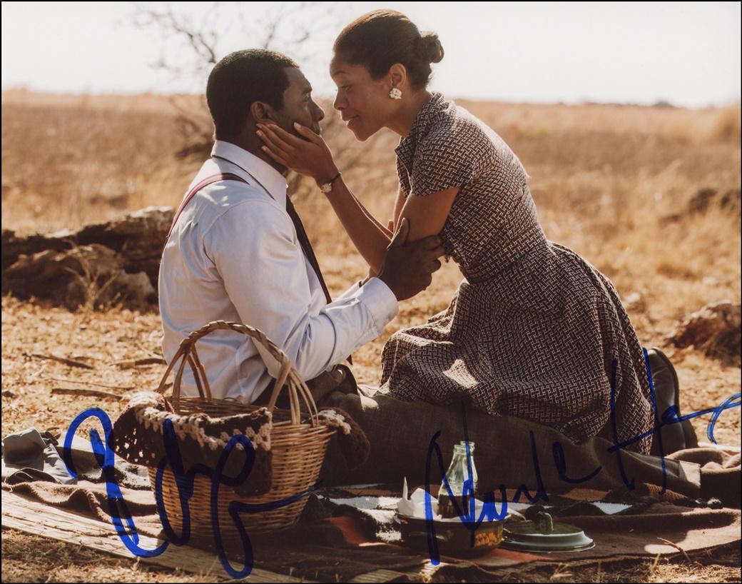 Idris Elba & Naomie Harris Signed Photo
