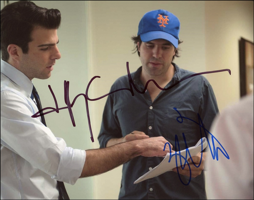 JC Chandor & Zachary Quinto Signed Photo