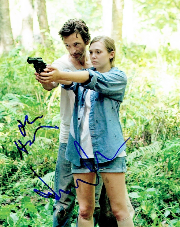 Elizabeth Olsen & John Hawkes Signed Photo