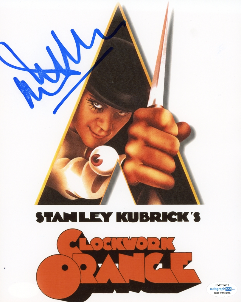 Malcolm McDowell Signed Photo