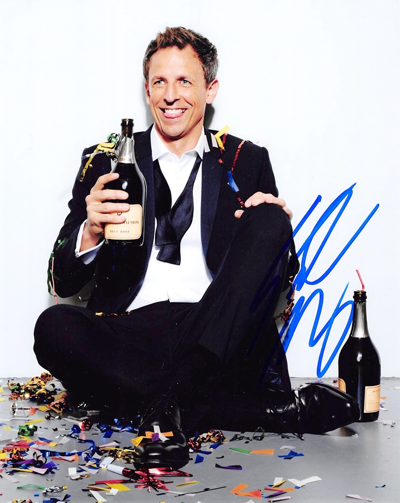 Seth Meyers Signed Photo