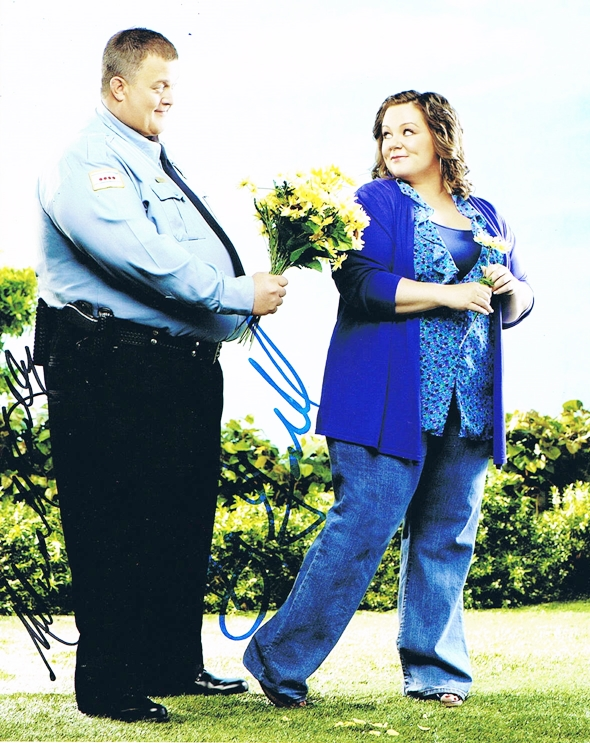 Billy Gardell & Melissa McCarthy Signed Photo