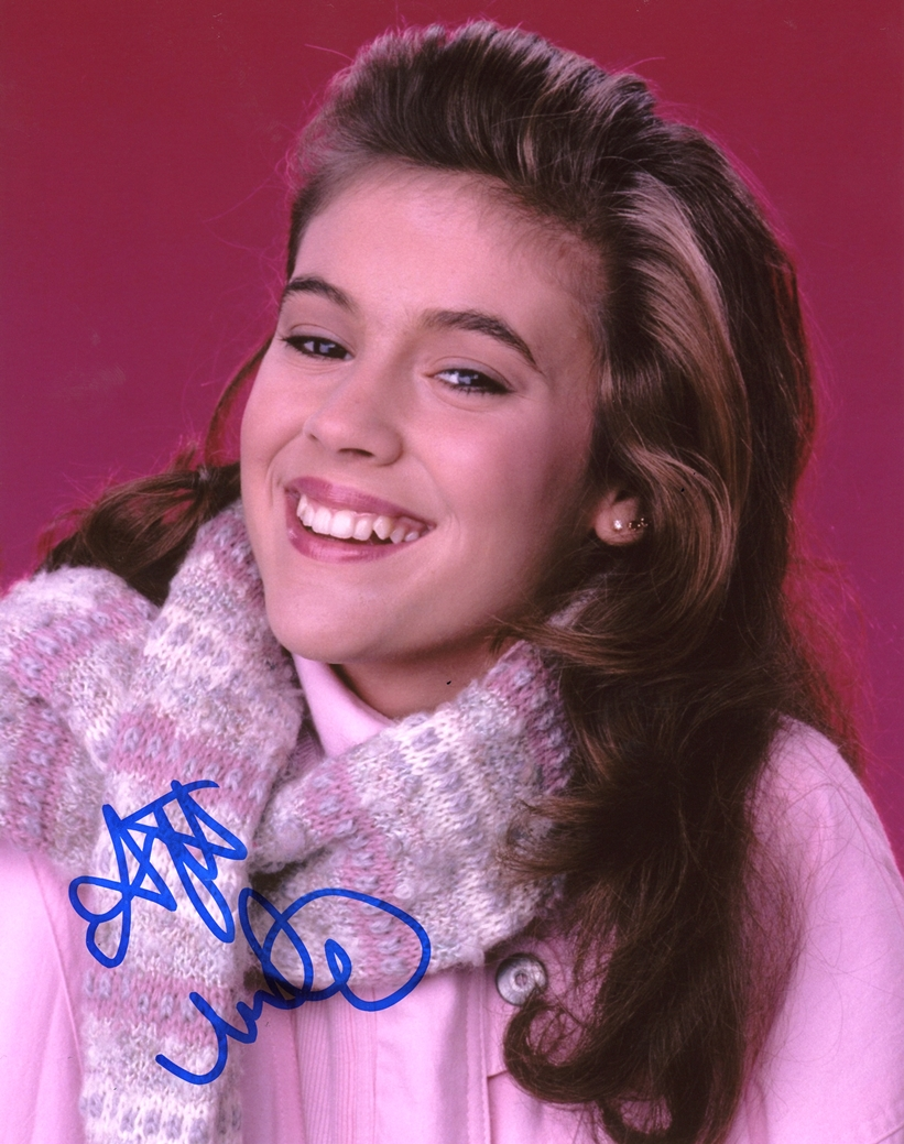 Alyssa Milano Signed Photo