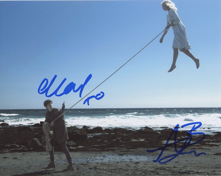 Ella Purnell & Asa Butterfield Signed Photo