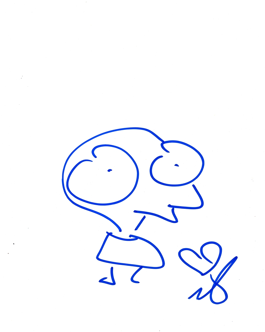 Moby Signed Sketch