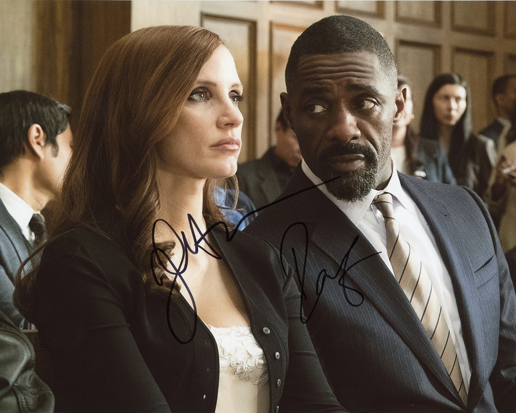 Jessica Chastain & Idris Elba Signed Photo