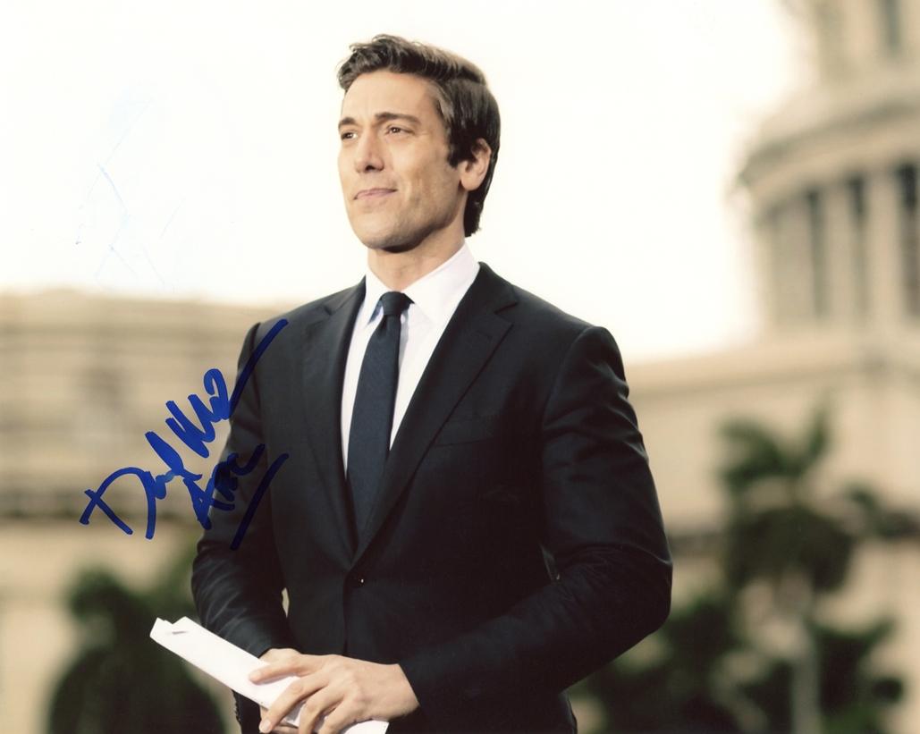 David Muir Signed Photo