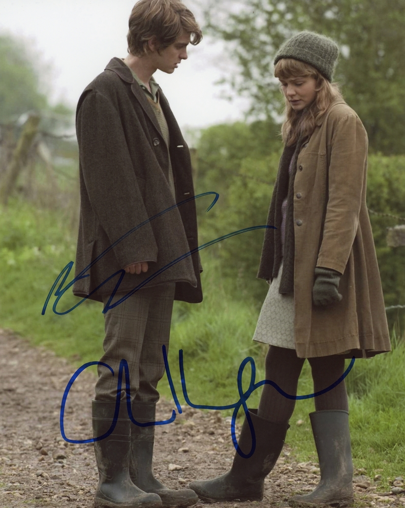 Andrew Garfield & Carey Mulligan Signed Photo