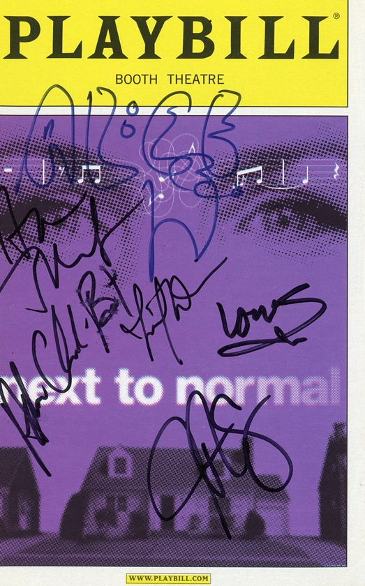 Next to Normal Signed Playbill