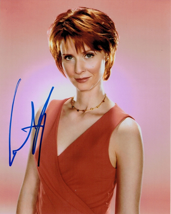 Cynthia Nixon Signed Photo