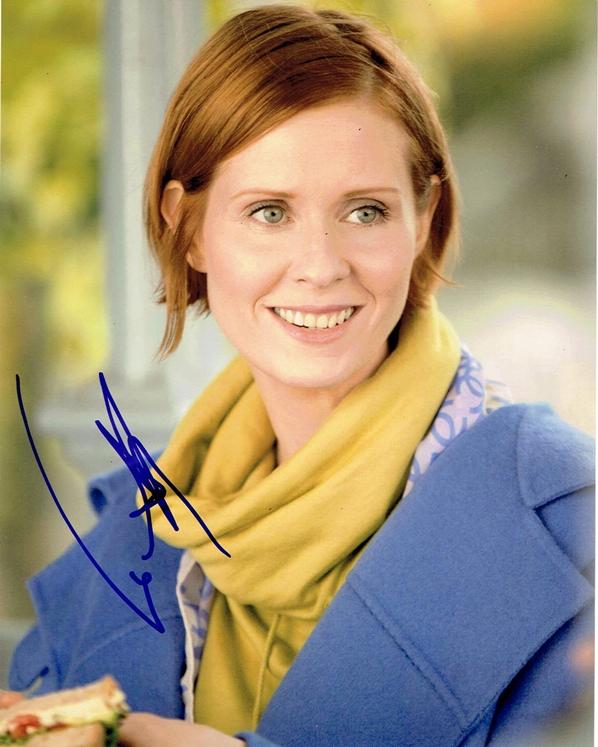 Cynthia Nixon Signed Photo